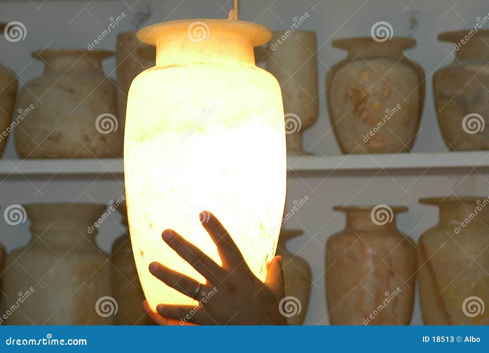 Vase à albâtre