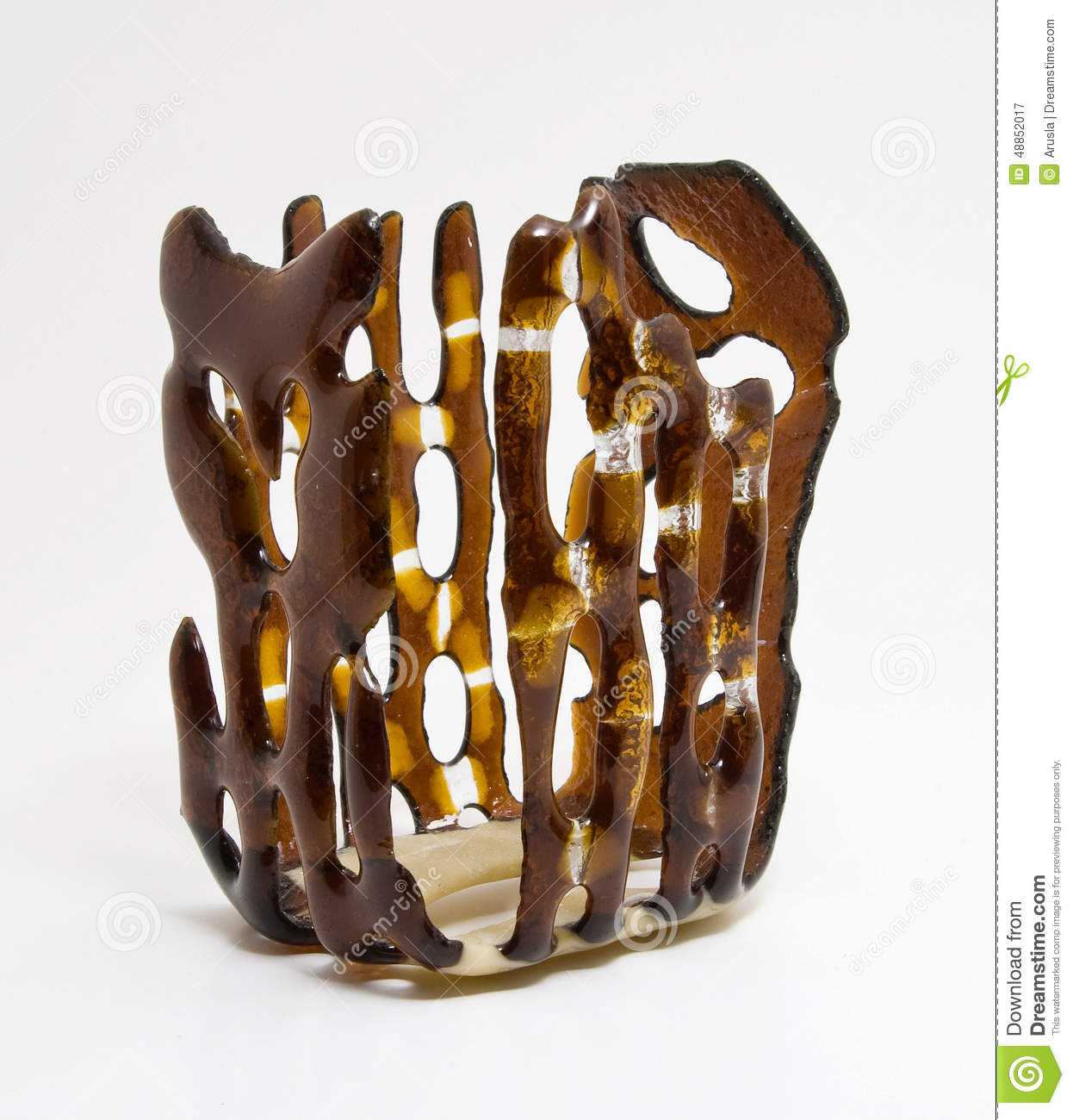 Vase Brown Candle Holder Candlestick Stock Image Image Of