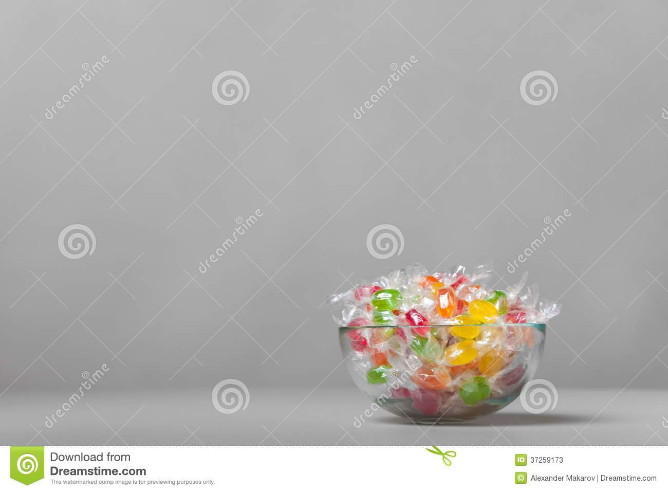 Vase with colour sweets