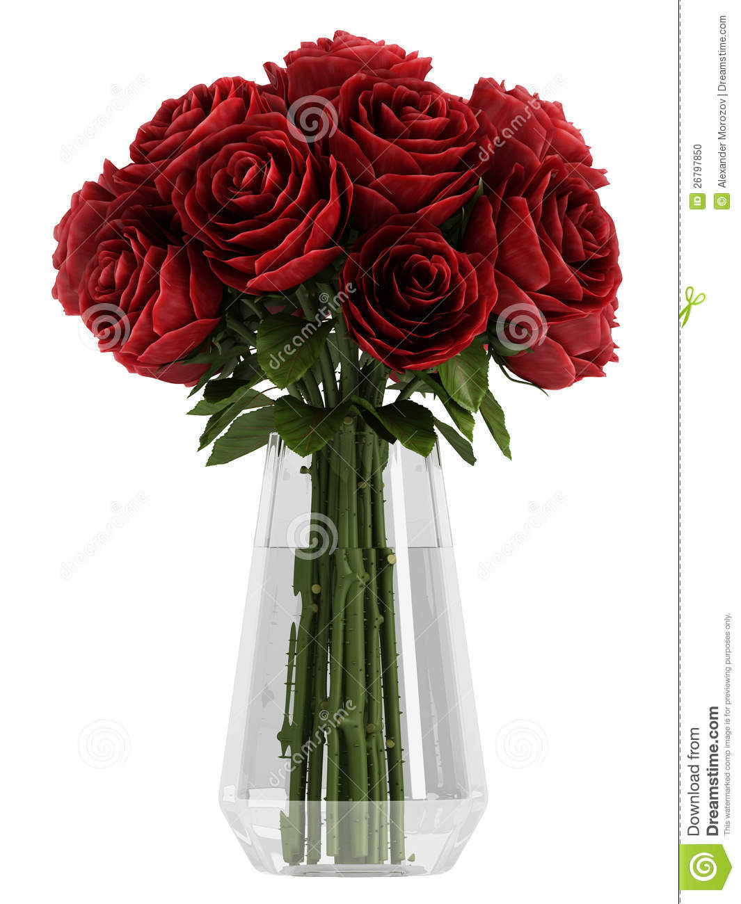 Vase Of Deep Burgundy Red Roses Stock Photo Image 26797850