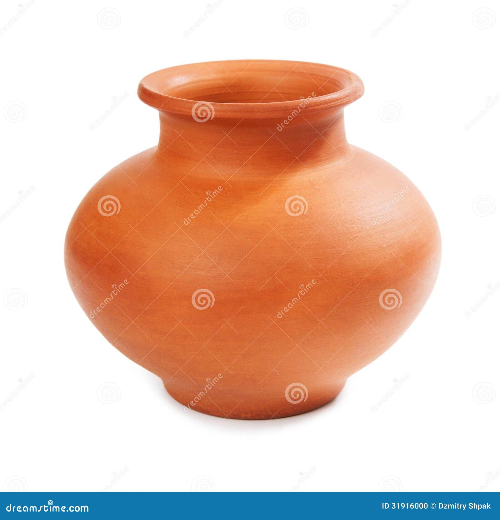 Vase en céramique d isolement sur le blanc