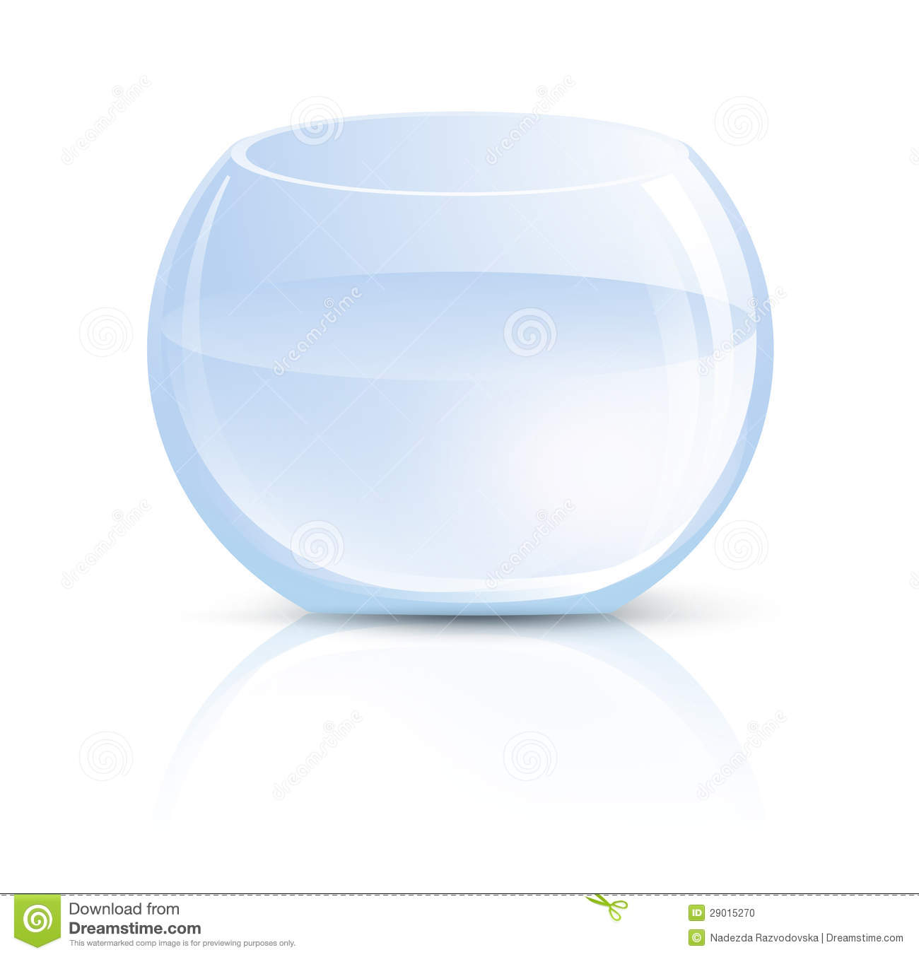 Vase en verre ou aquarium rond illustration de vecteur for Grand aquarium rond