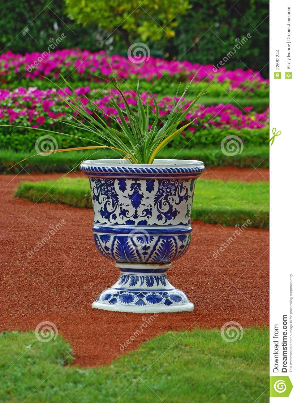 Vase with flower as an element of landscape design stock for Element landscape design