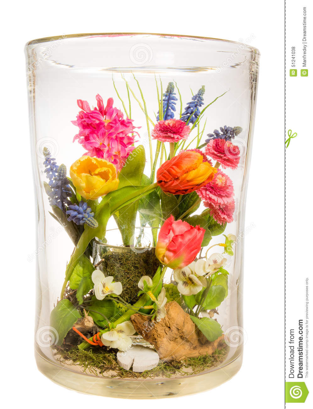 Vase with flower bouquet stock photo image of plastic for Flowers made of glass