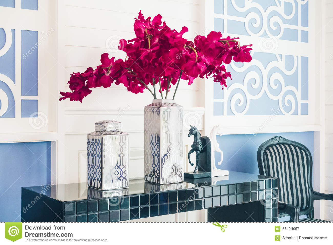 Royalty Free Stock Photo. Download Vase Flower Decoration Interior Of Living  Room ... Part 53