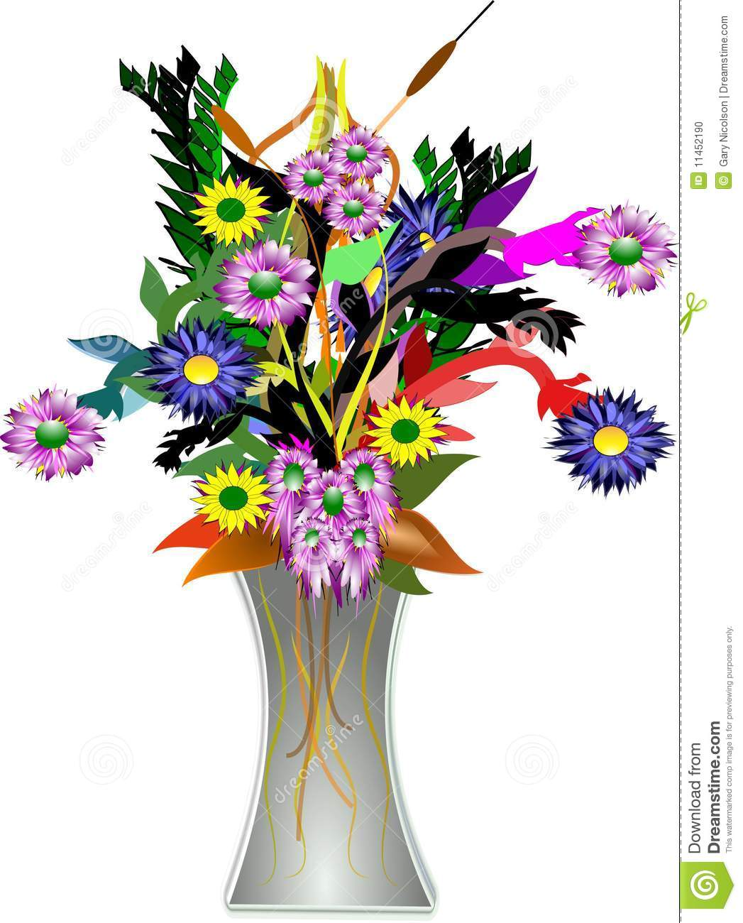 flower vases with flowers clipart vase of flowers clipart - Flower Vase