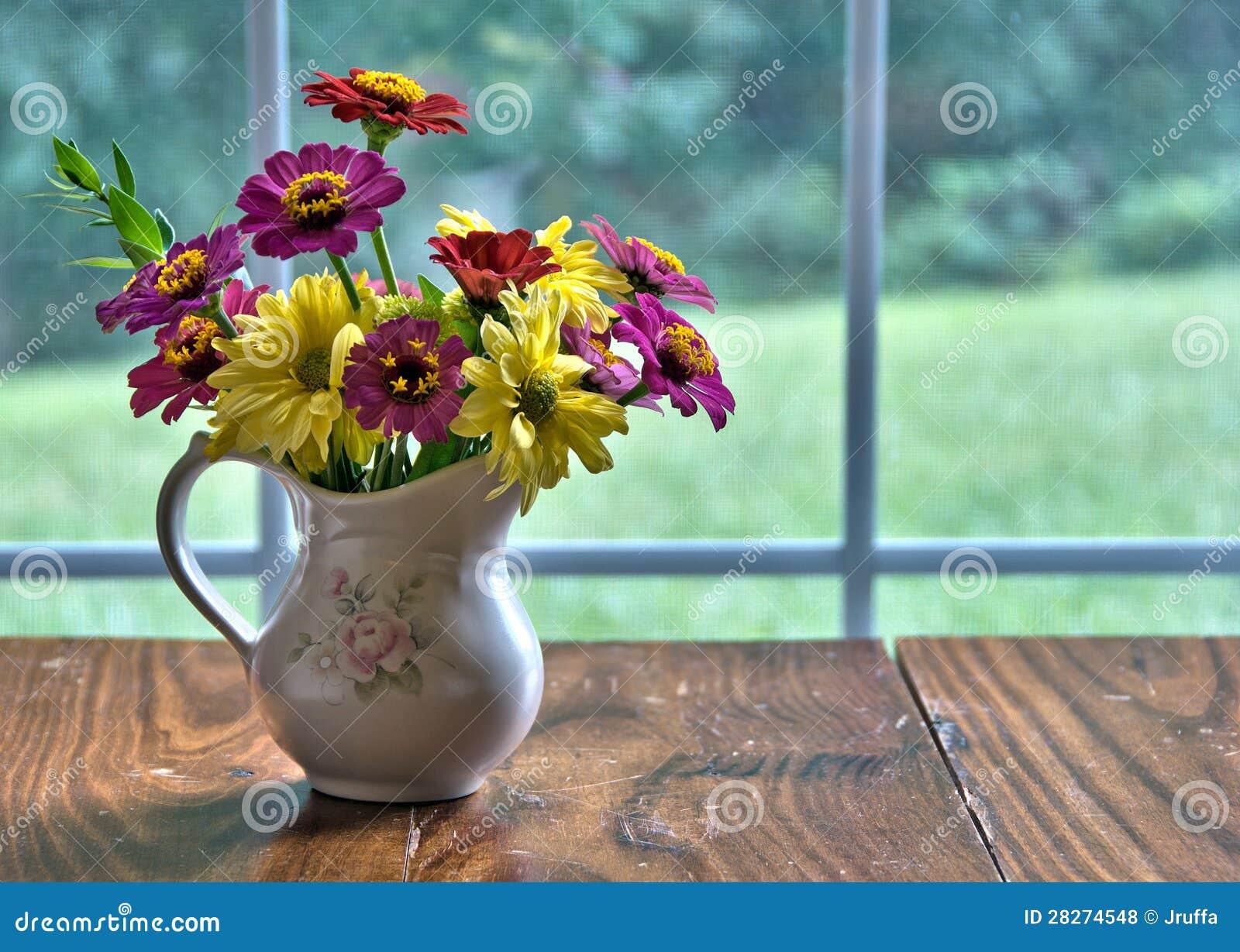 Vase of freshly cut flowers stock photo image of rustic vase of freshly cut flowers reviewsmspy