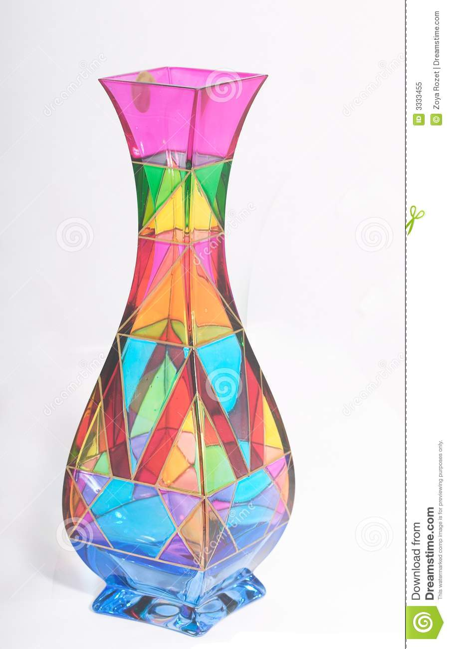 Vase from multi coloured glass stock image image of cheerful vase from multi coloured glass reviewsmspy