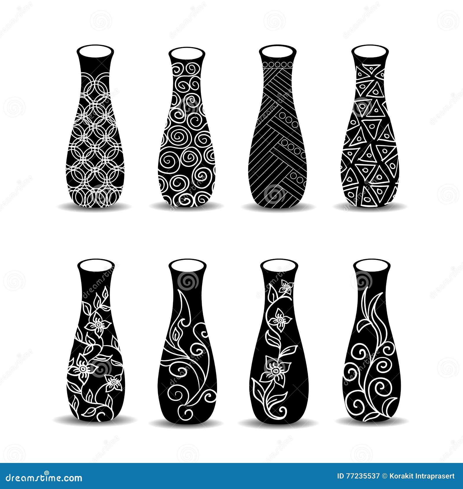 Vase Set. Pottery Vases Flower Home Interior Decoration