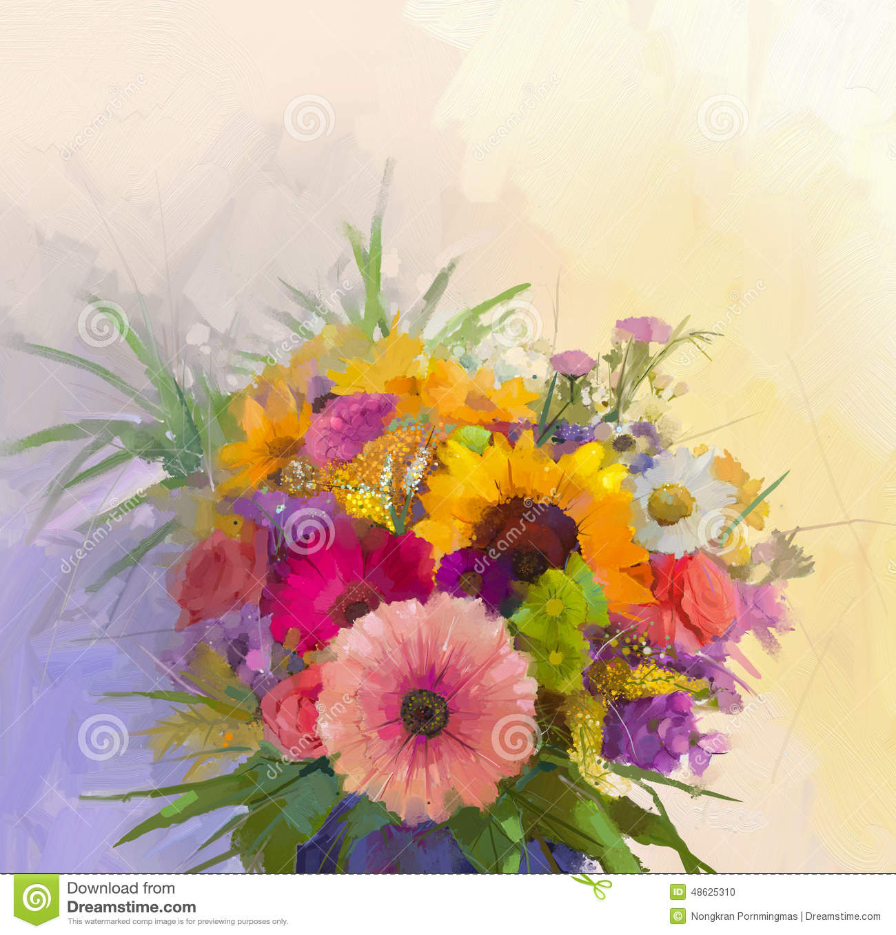 Oil painting still life bouquet flowers in vase stock illustration oil painting still life bouquet flowers in vase izmirmasajfo