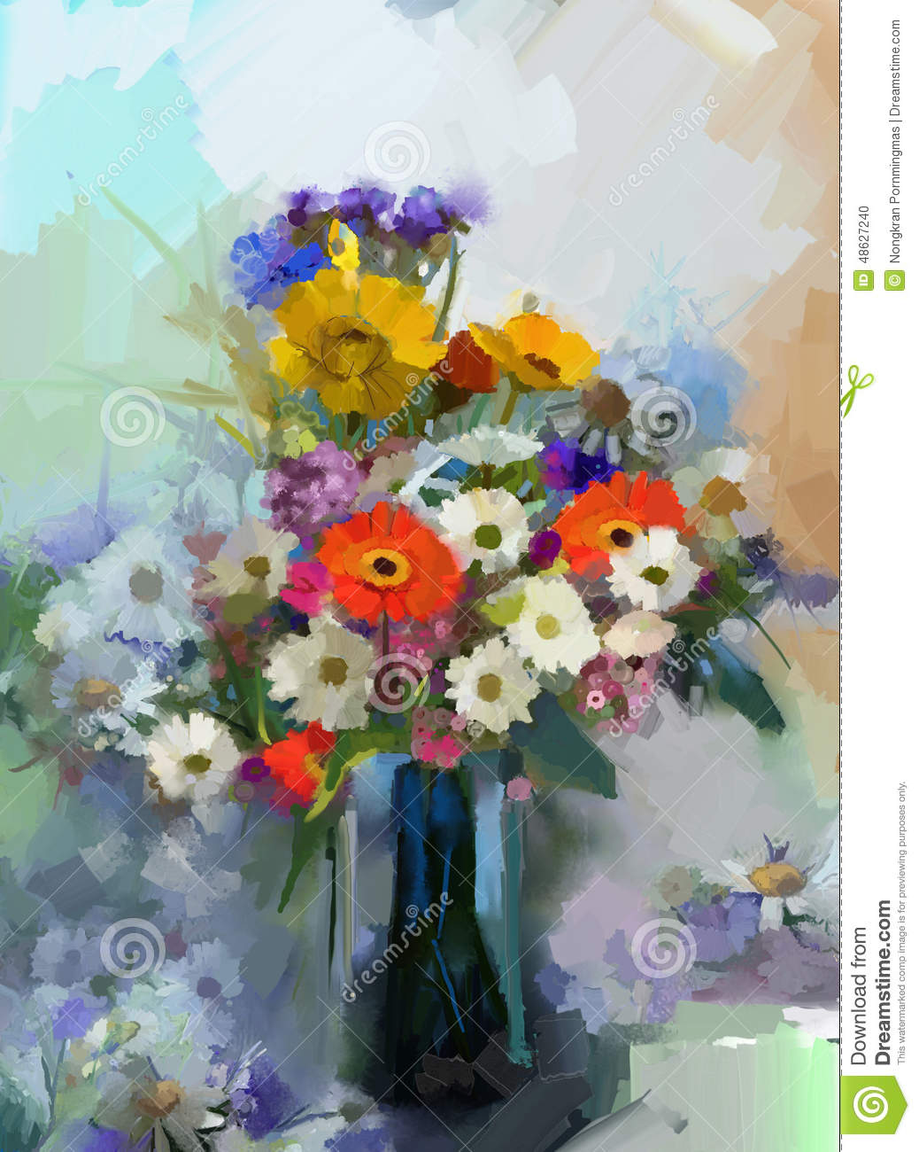 Oil painting vase with still life a bouquet of flowers stock oil painting vase with still life a bouquet of flowers izmirmasajfo