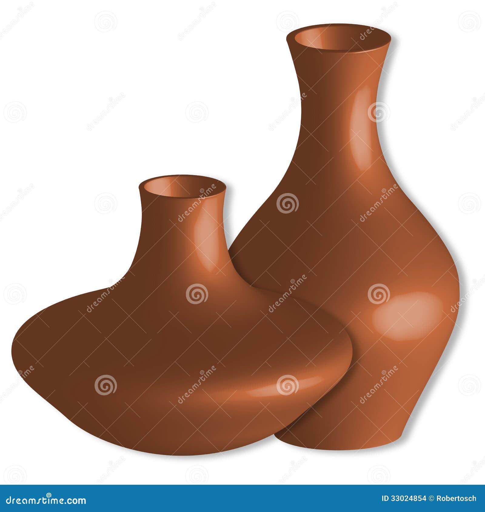 Vasen 3d gegen Weiß