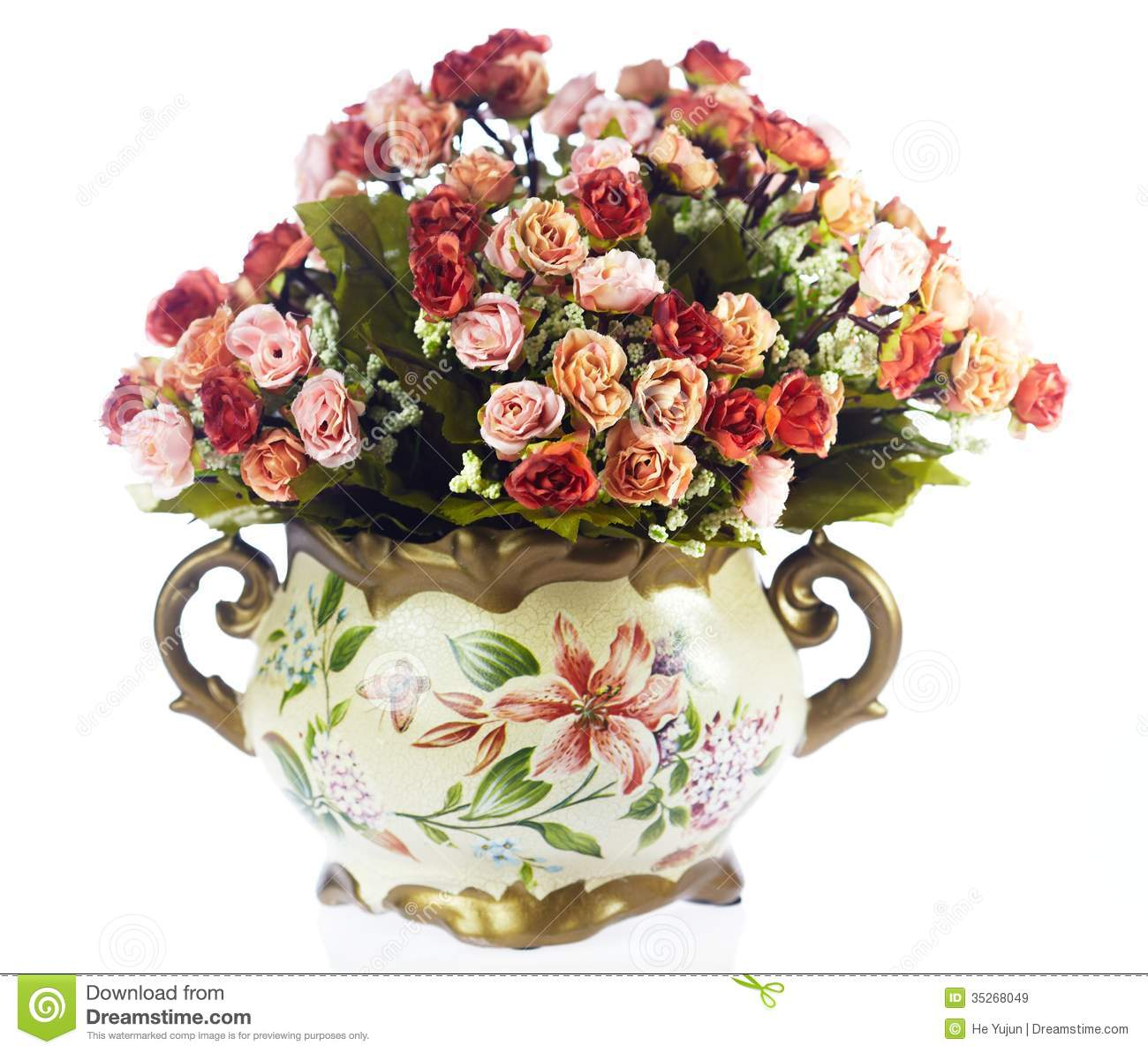 Vases With Flowers Stock Image Image Of Home Flower 35268049