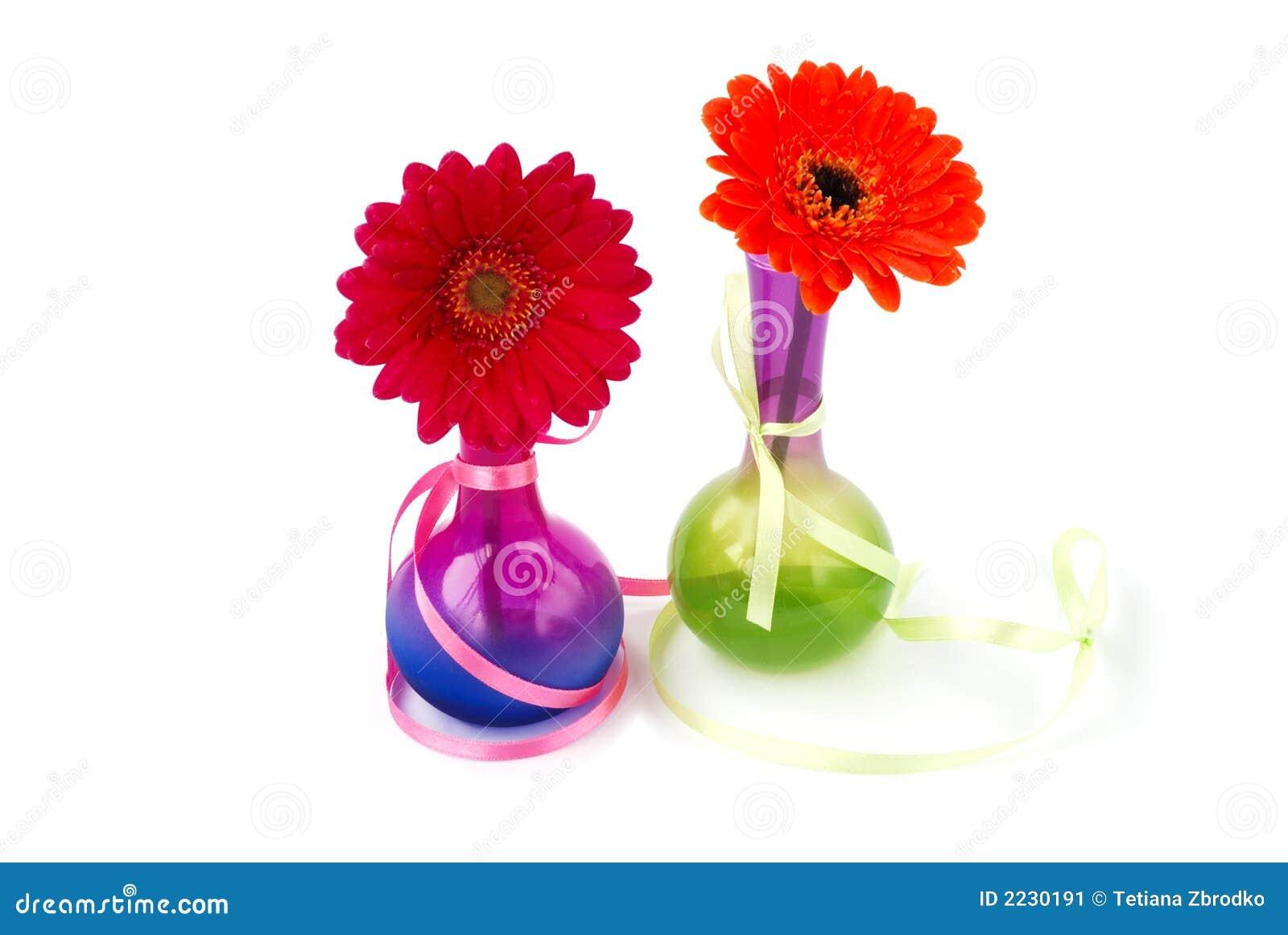 Vases gerberas