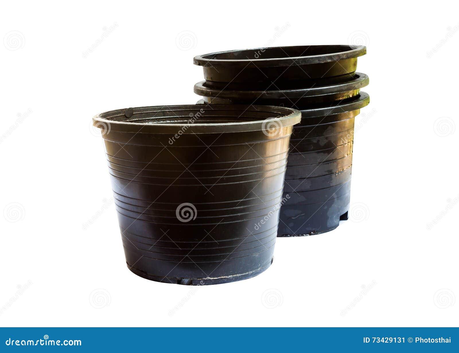 Vasi Neri In Plastica.Vasi Di Plastica Neri Della Pianta Immagine Stock Immagine