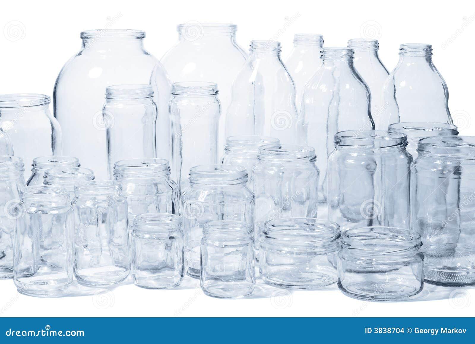 Vasi e bottiglie di vetro fotografia stock immagine di for Vasi ermetici vetro