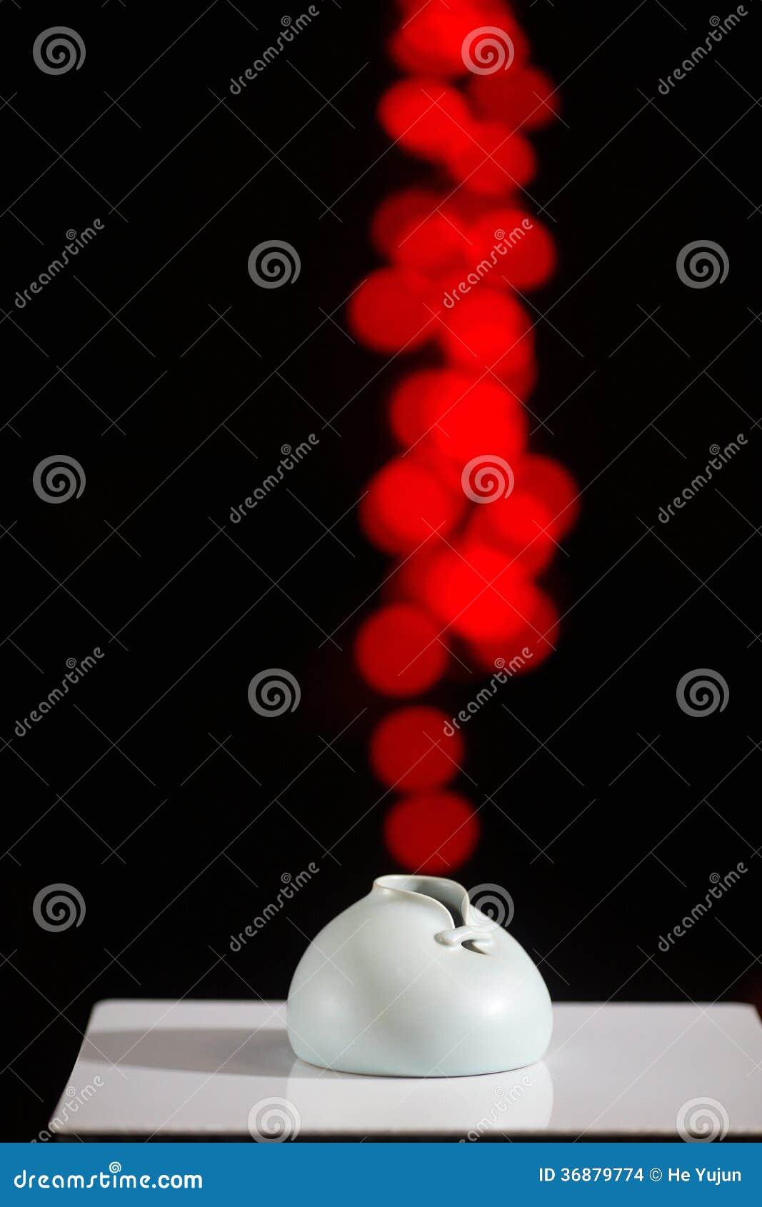 Download Vaso Cinese Di Stile Tradizionale Fotografia Stock - Immagine di stile, panno: 36879774