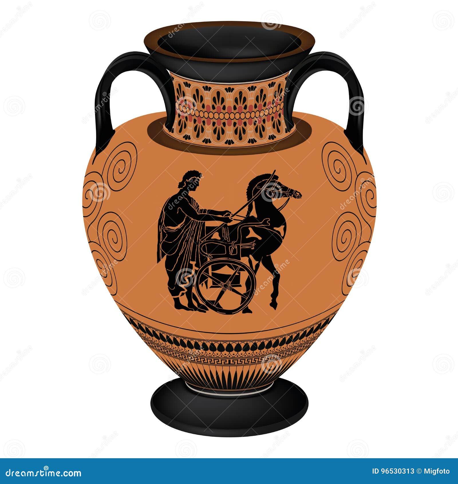 Vaso del greco di vettore illustrazione vettoriale for Vaso greco antico