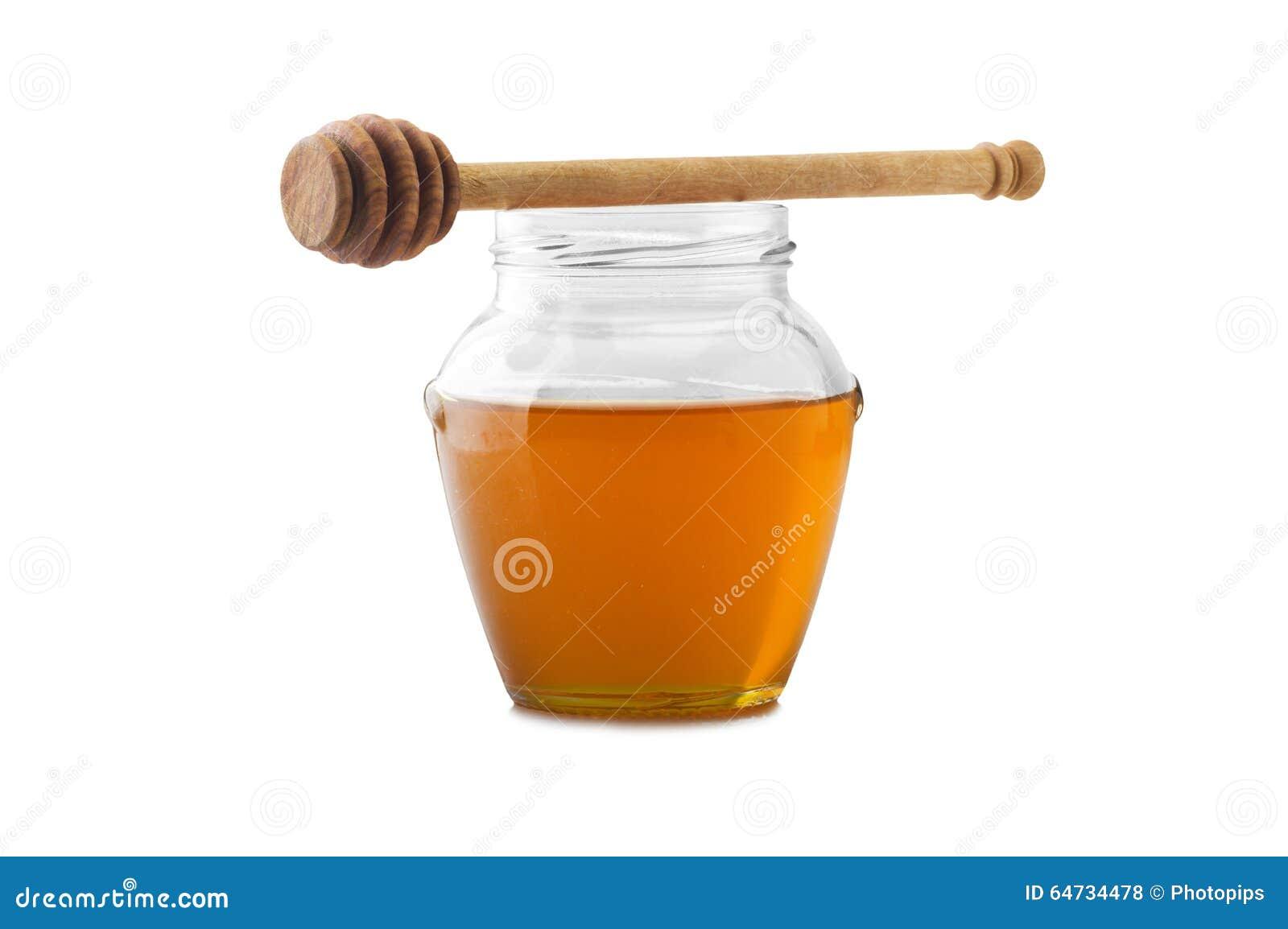 Vaso di vetro di miele