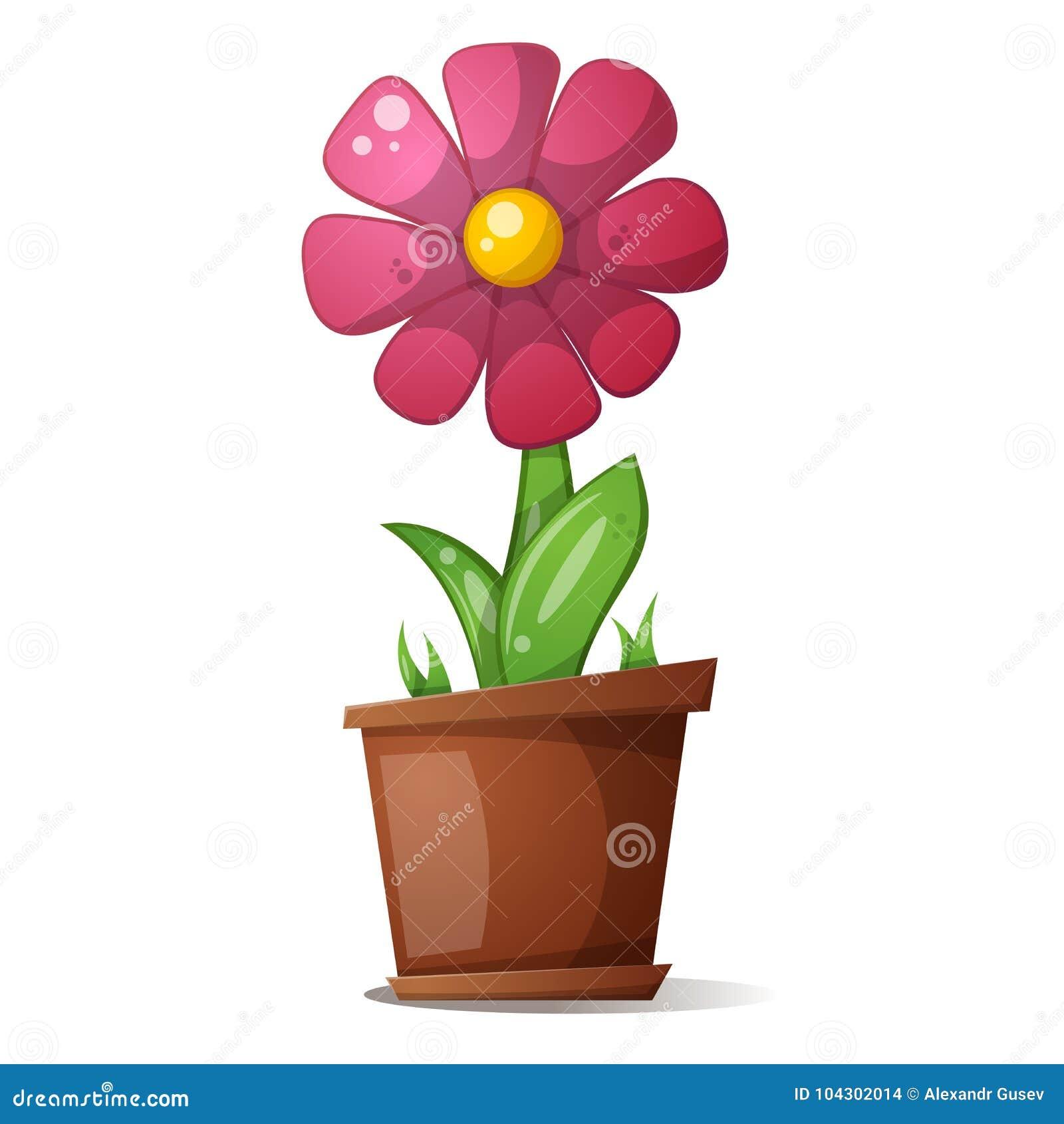 Vaso, fiore - illustrazione del fumetto