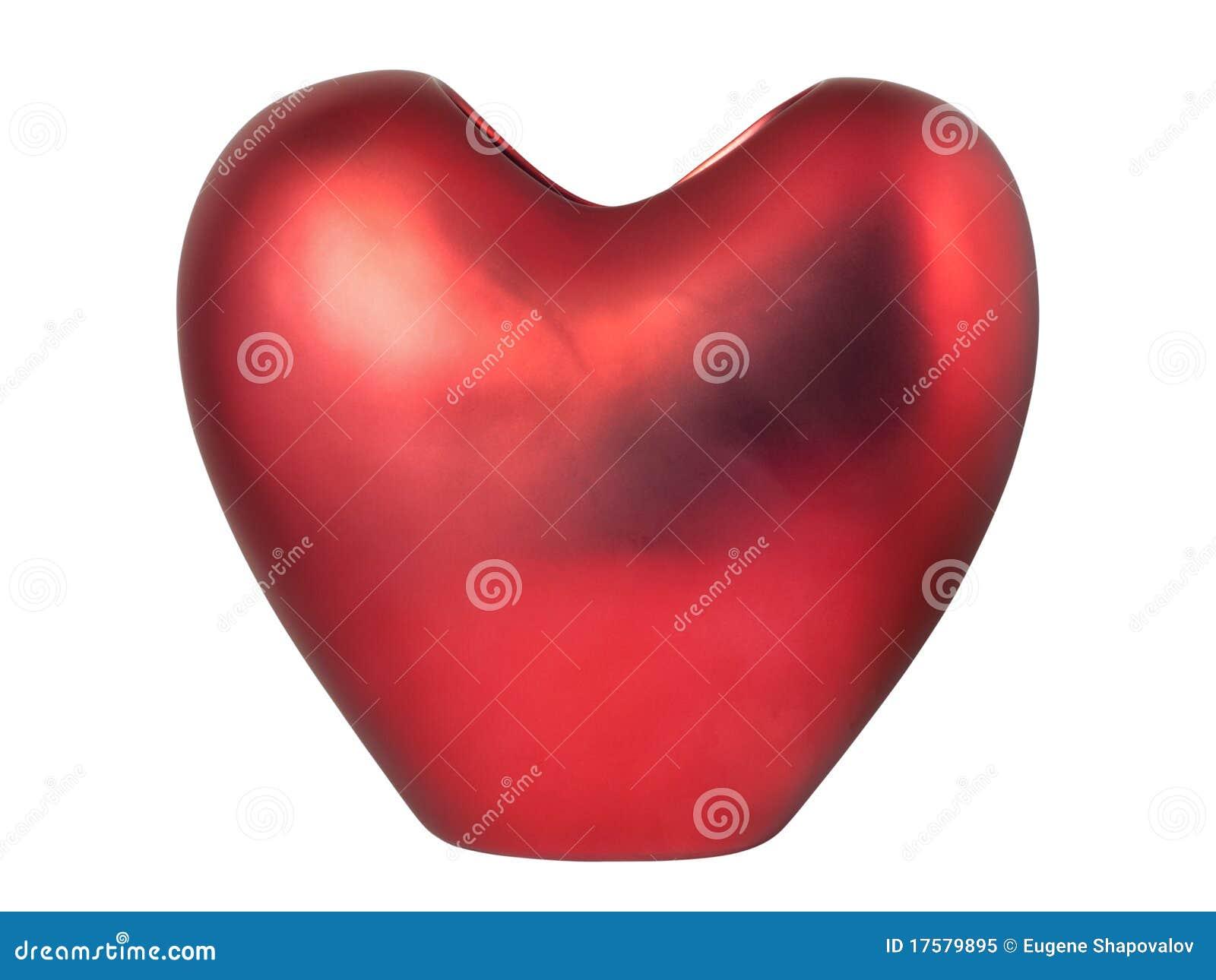 Vaso heart-shaped vermelho