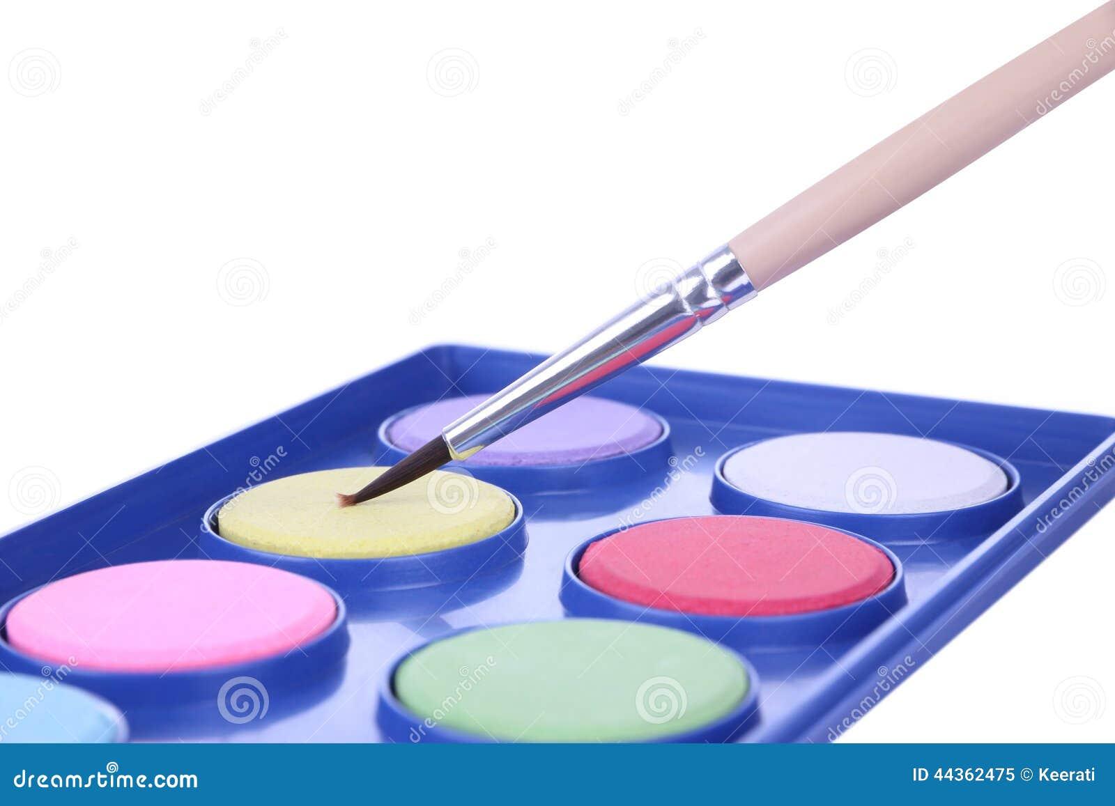 Vassoio della tavolozza di colore della polvere della spazzola