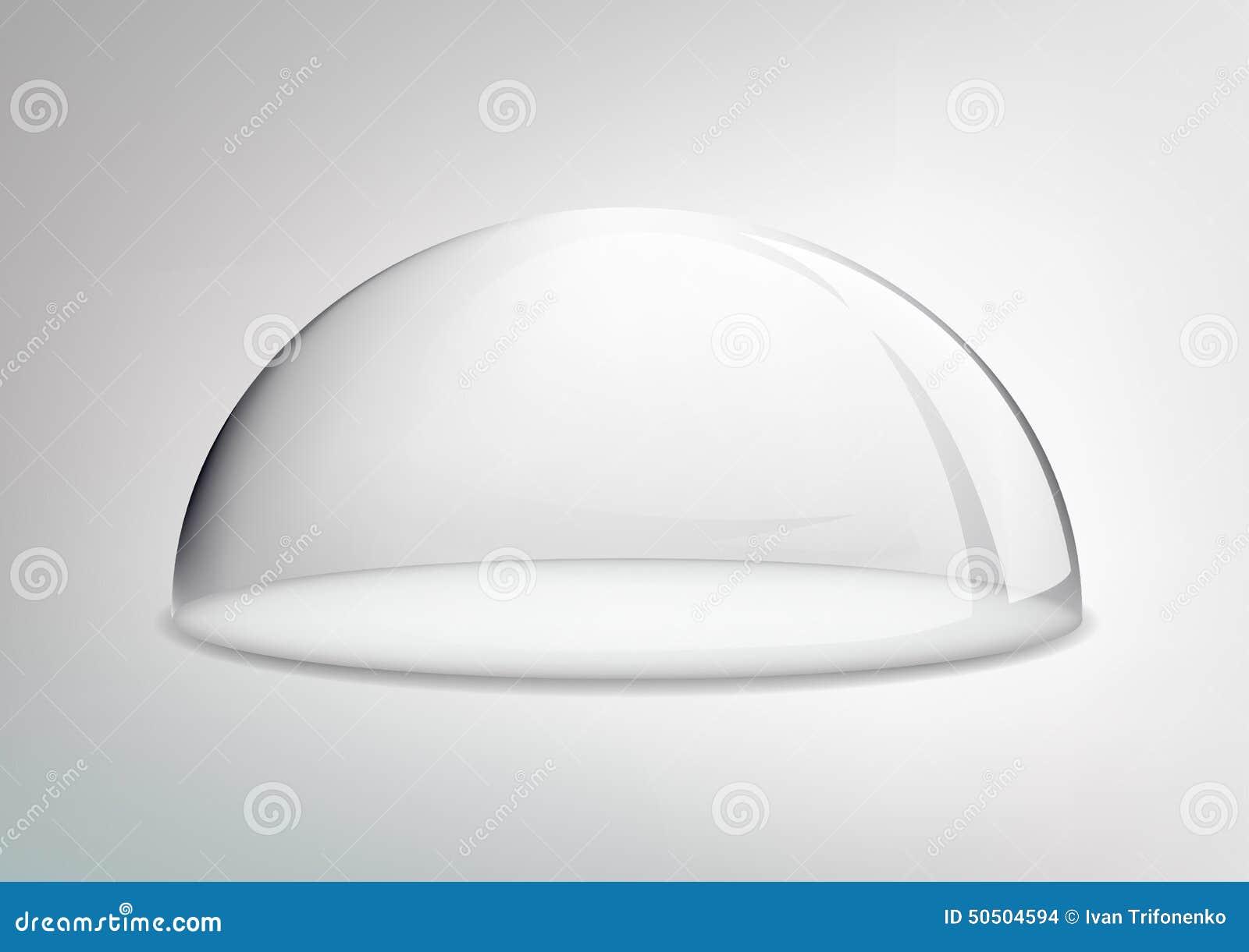 Vassoio di vettore con una copertura di vetro