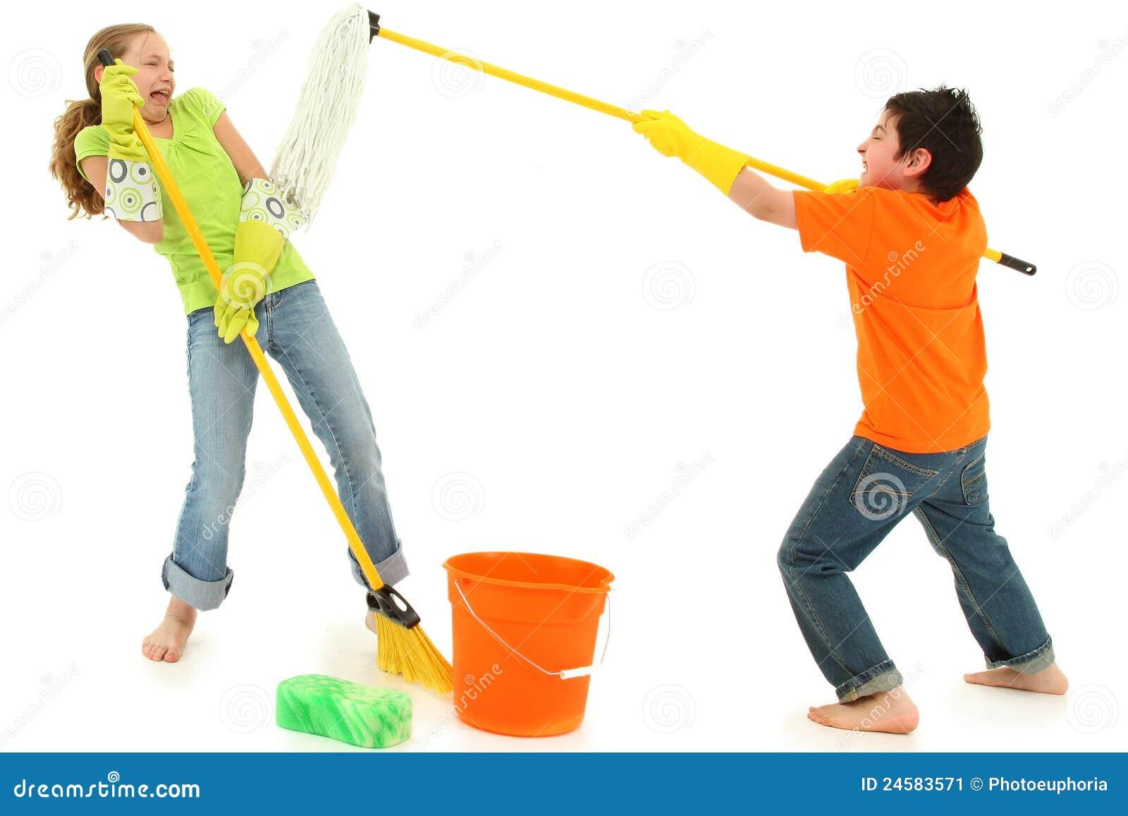 Vassoura do espanador das crianças da limpeza da primavera Stinky