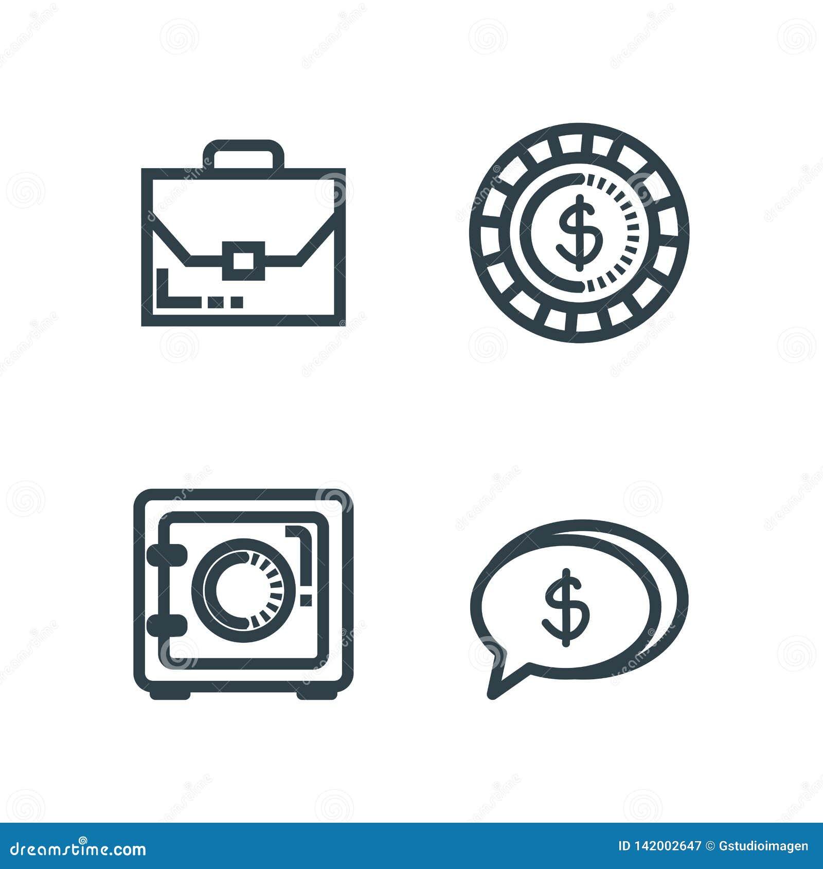 Vastgestelde aktentas met brandkast en muntstuk