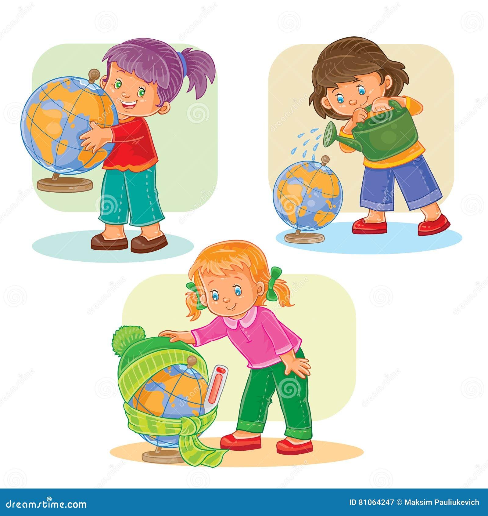 Vastgestelde pictogrammen kleine meisjes die met bol spelen