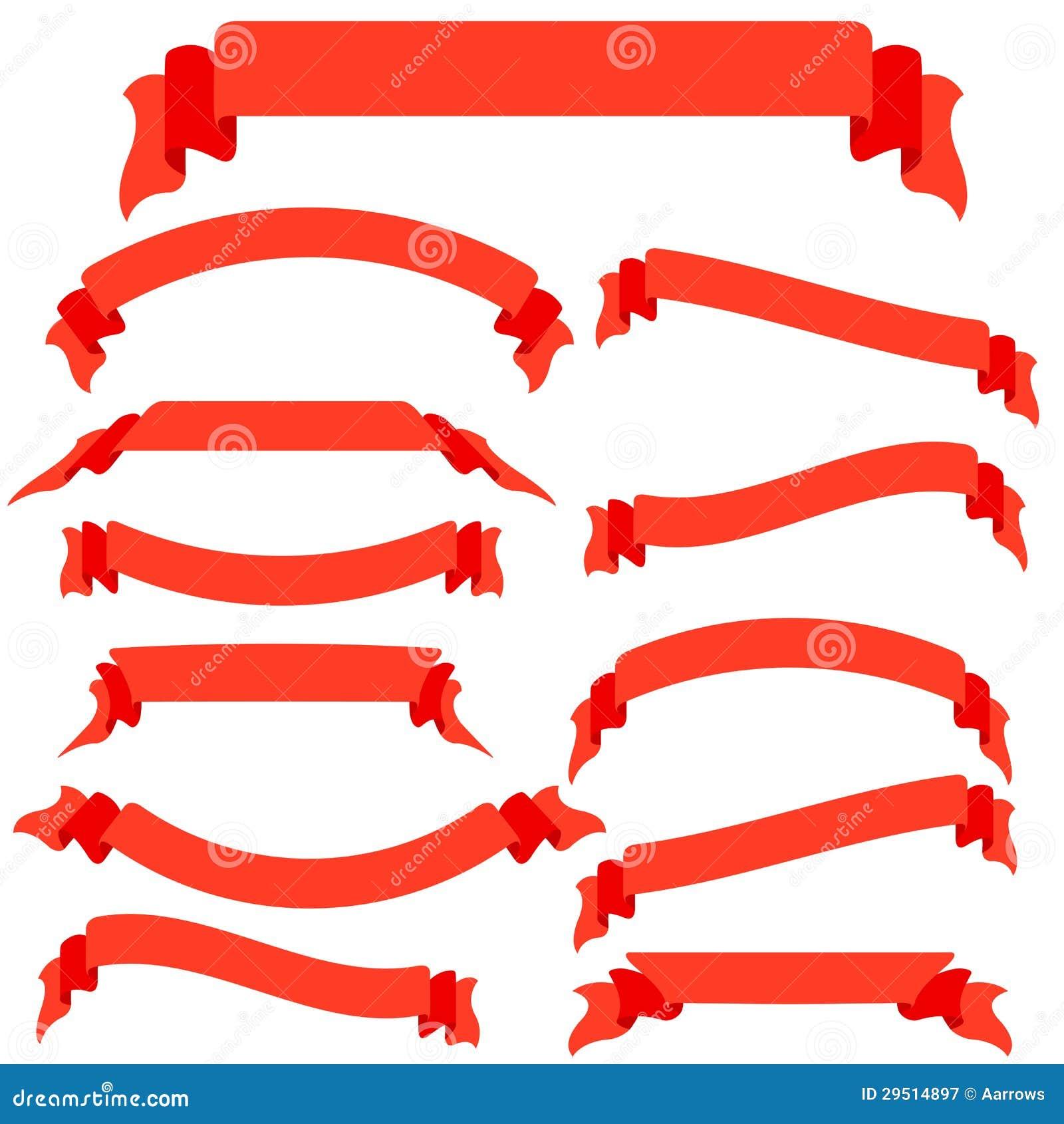 Vastgestelde rode linten en banners