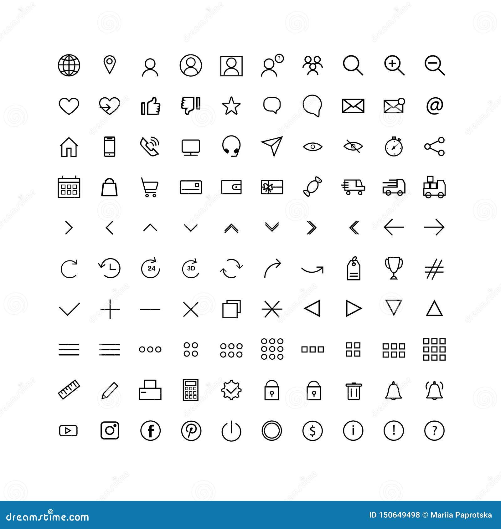 Vastgestelde universele pictogrammen voor Web
