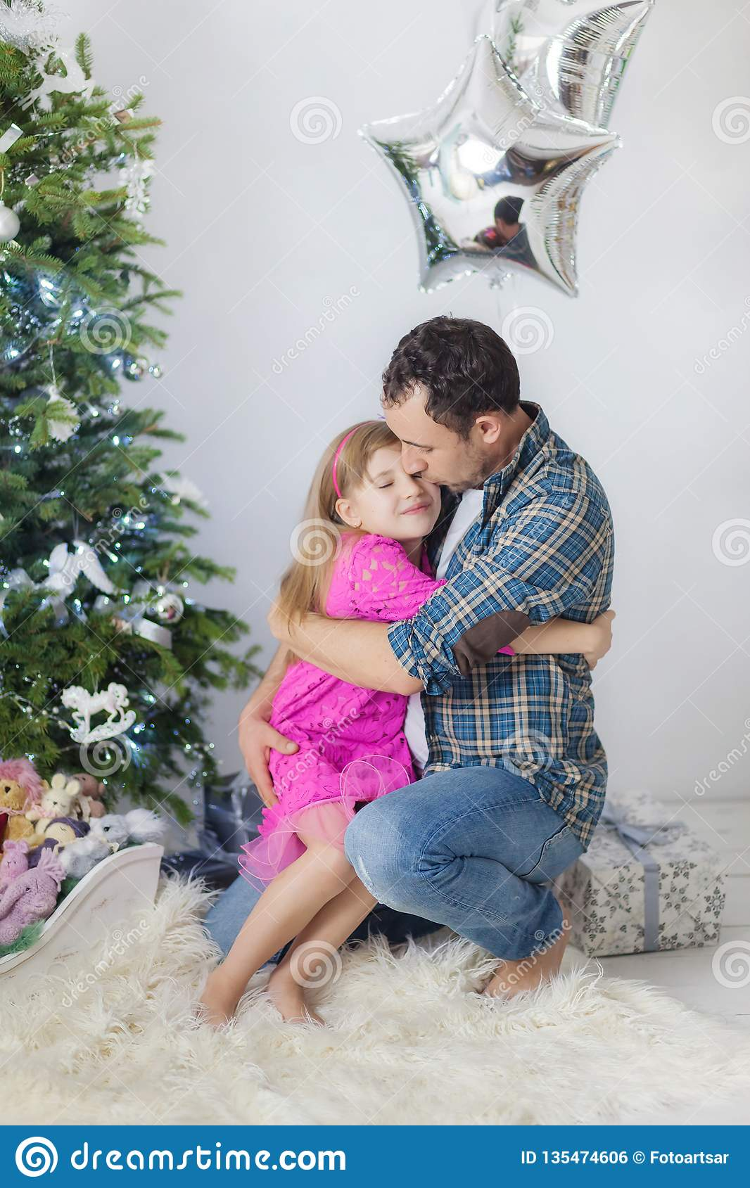 Vater VeuGelt Seine Tochter