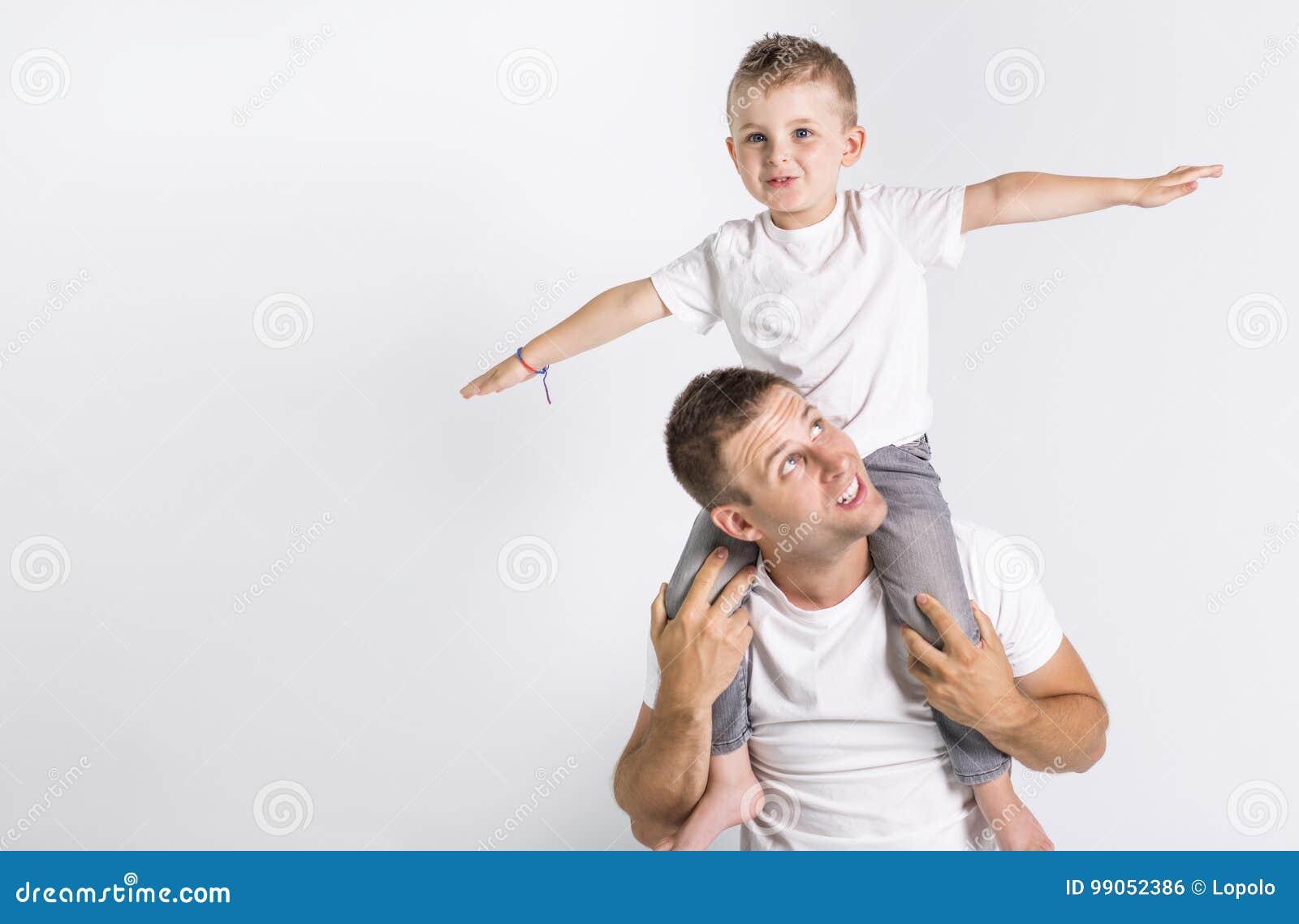 Vati mit Sohn