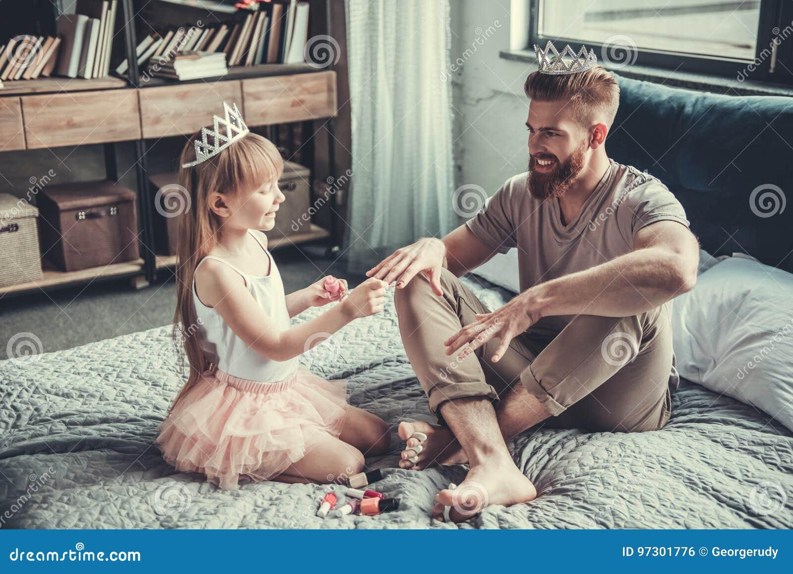 Vati und Tochter