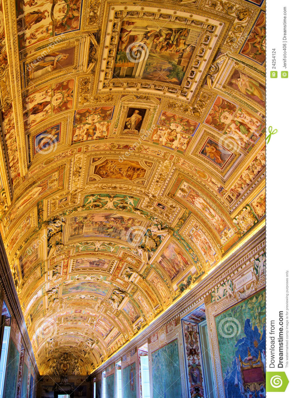 Room Plans Drawing: Vatican Art Stock Photo. Image Of Gallery, Chapel, Detail