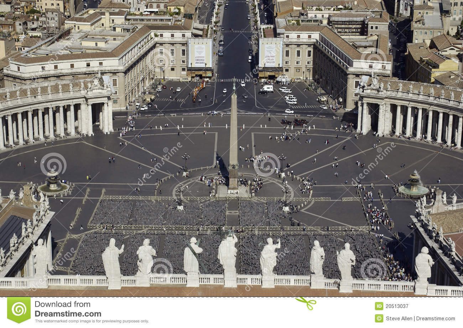 Vatican - cuadrado del St. Peters - Roma - Italia