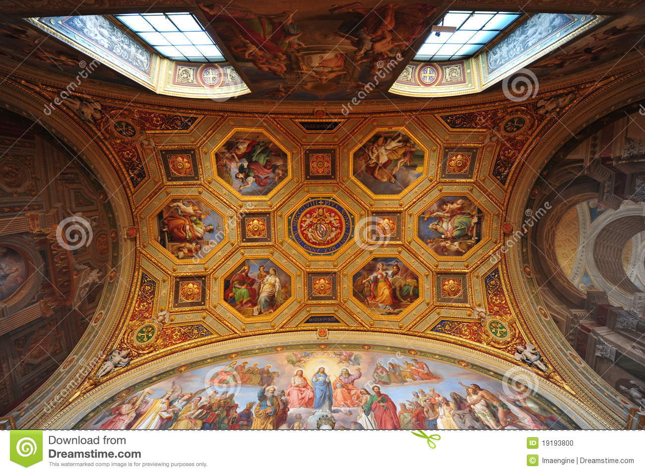 Vatican Museum Ceiling Frescoes Editorial Image Image