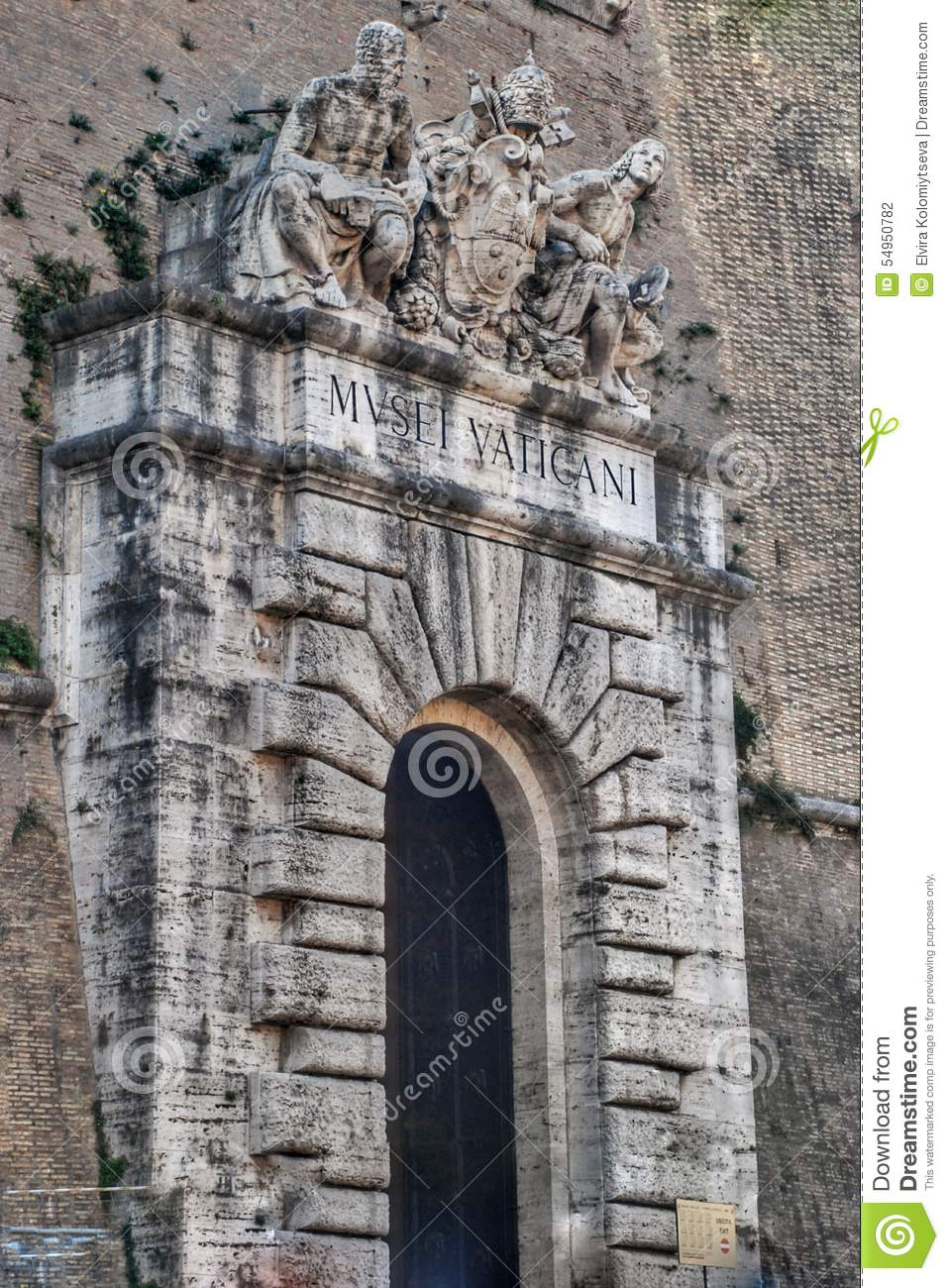 Vatican Museum Entrance, Rome Stock Photo