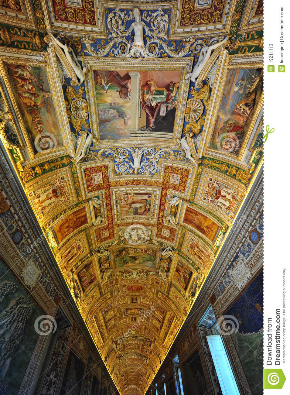Vatican Museum Frescoes And Mural Paintings Editorial