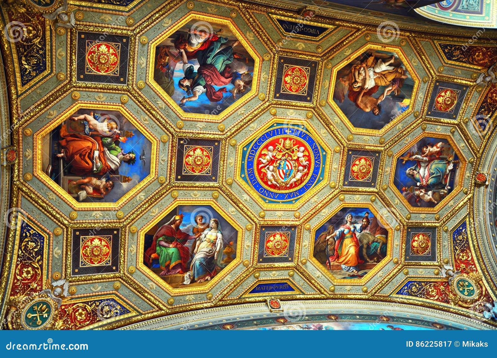 Vatican Museum Map Room Inside Ornate Sculptured Ceiling Editorial on laumeier sculpture park map, forest park map, st louis science center map, airport map, navy pier map, soulard neighborhood map, saint louis university map, scottrade center map,