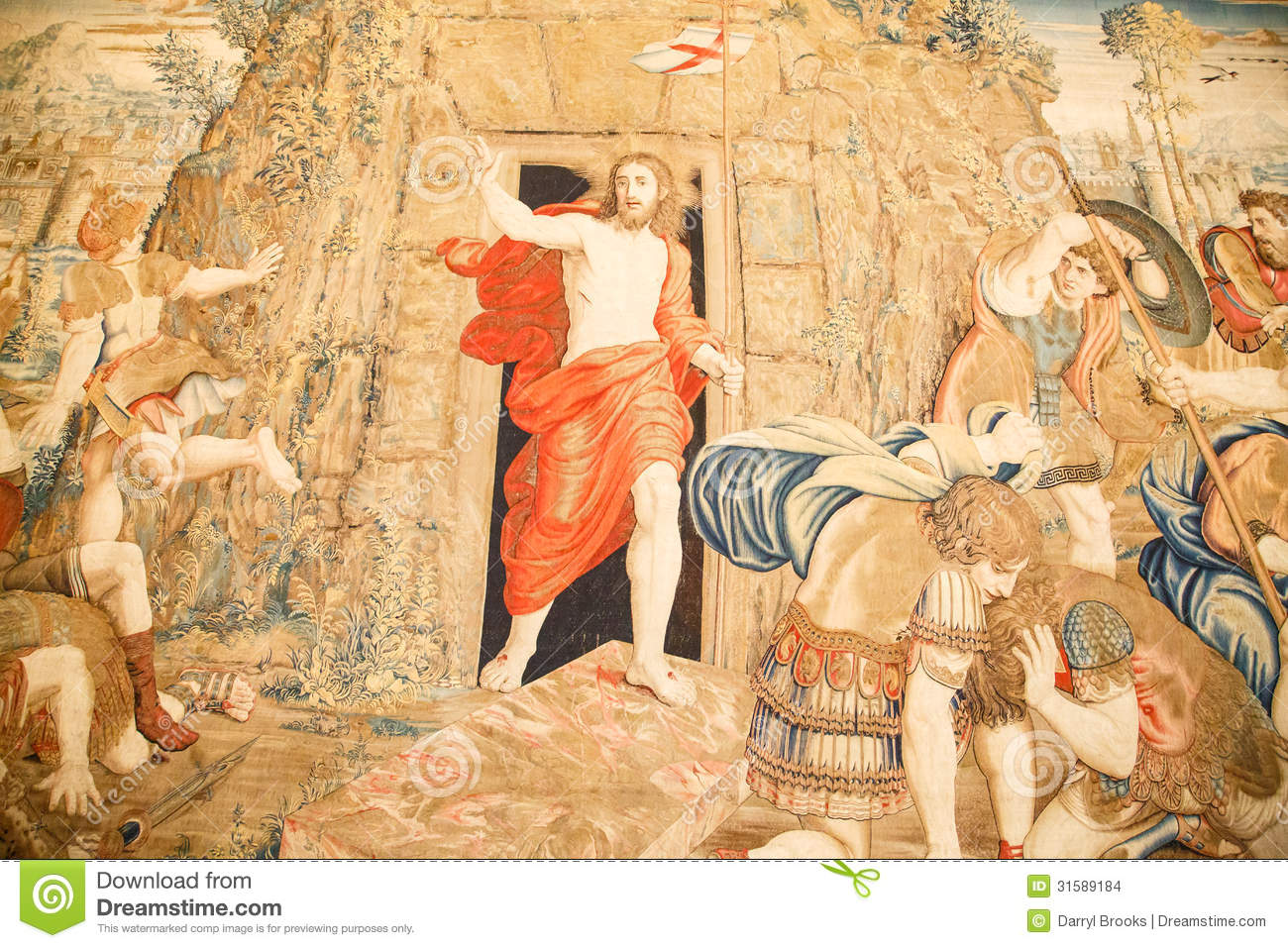 Vatican Tapestry Stock Photo Image Of Crusades Wall