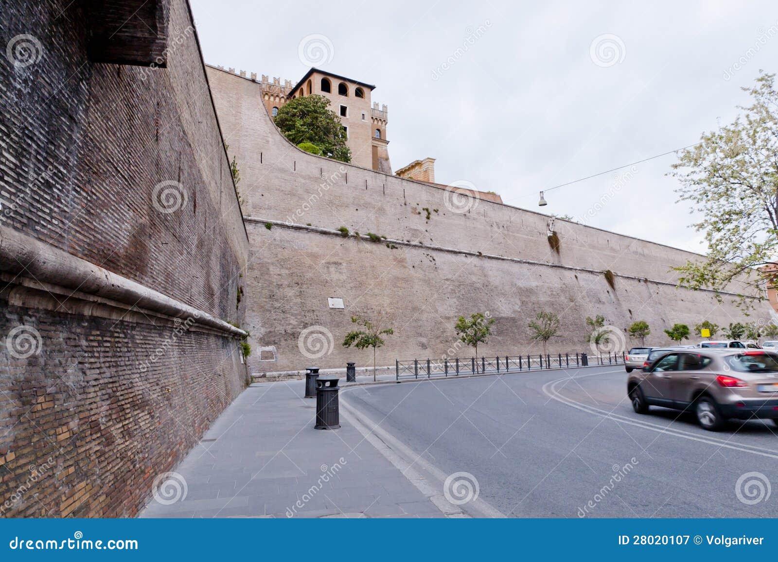 Vatican walls.
