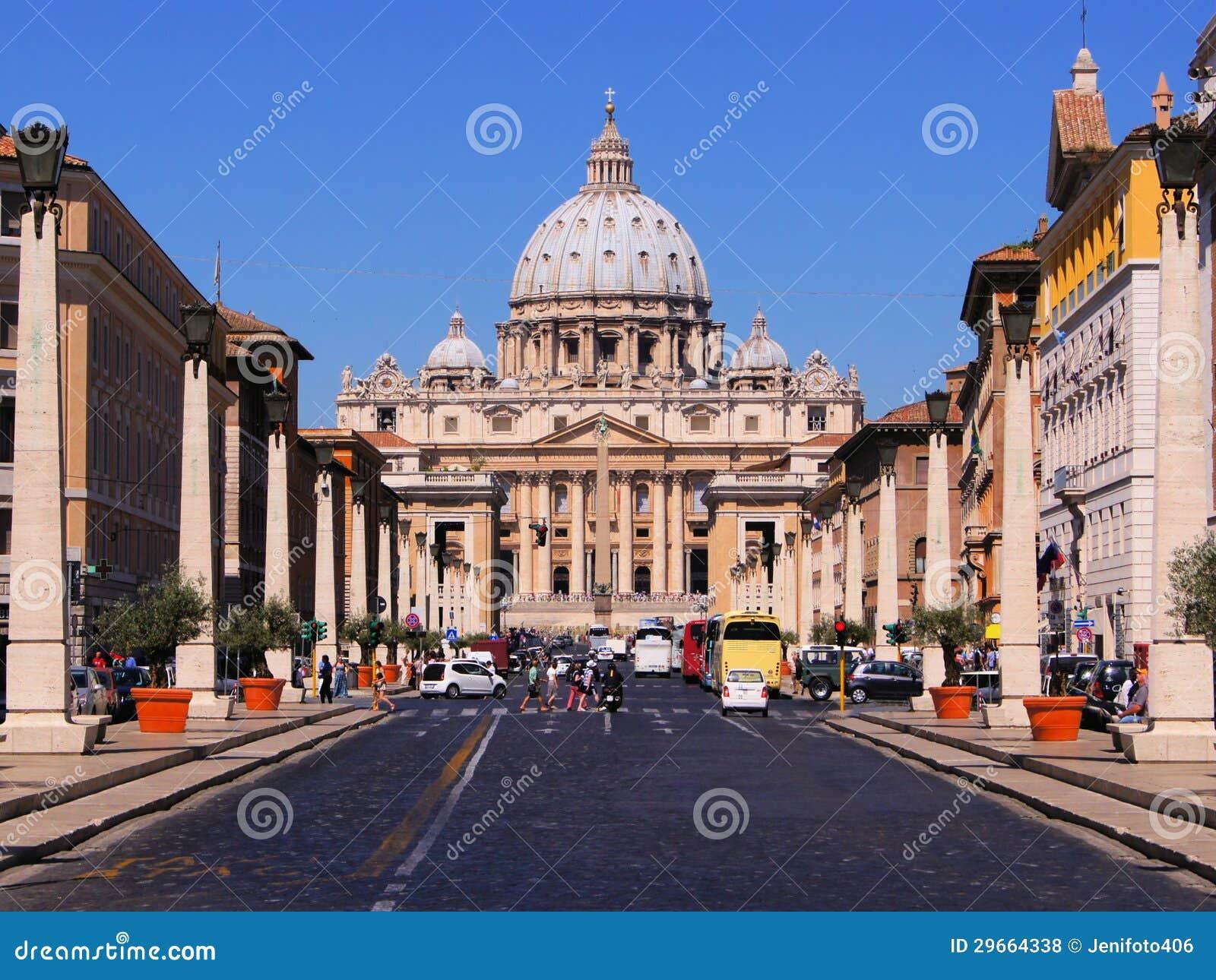 Vatikan-Ansicht stockfoto. Bild von peters, europäisch