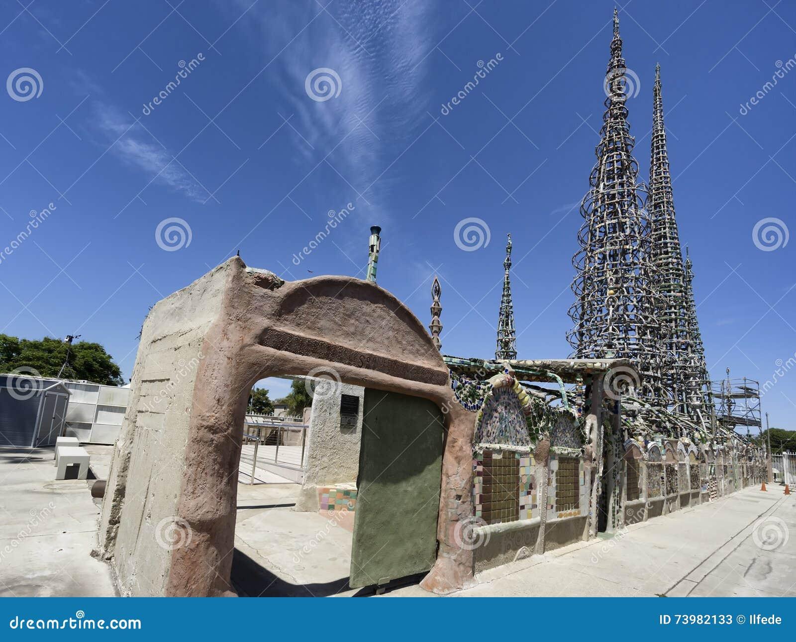 Vatios de torres en Los Ángeles, California