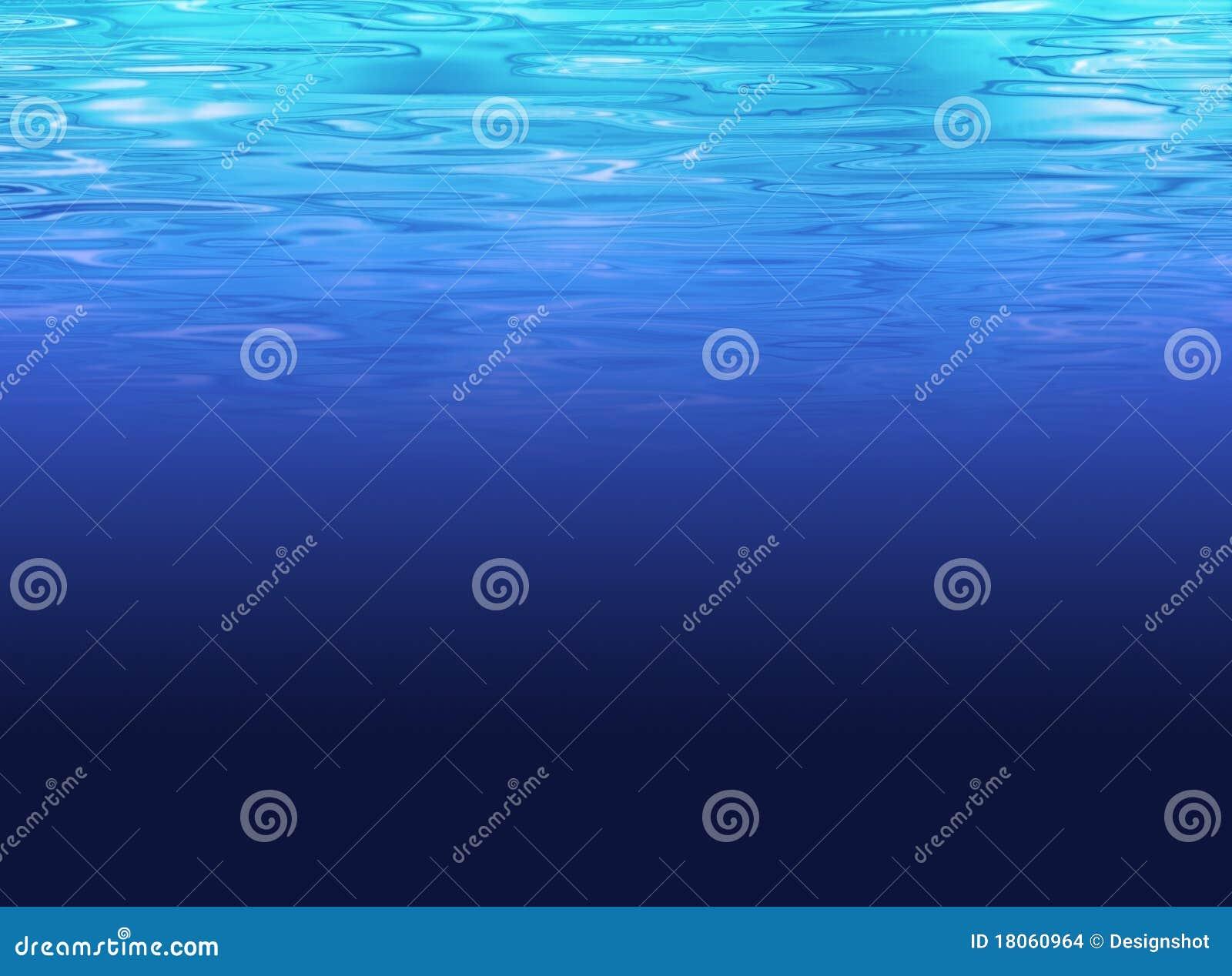 Vatten för djupt hav för bakgrund blått clean klart