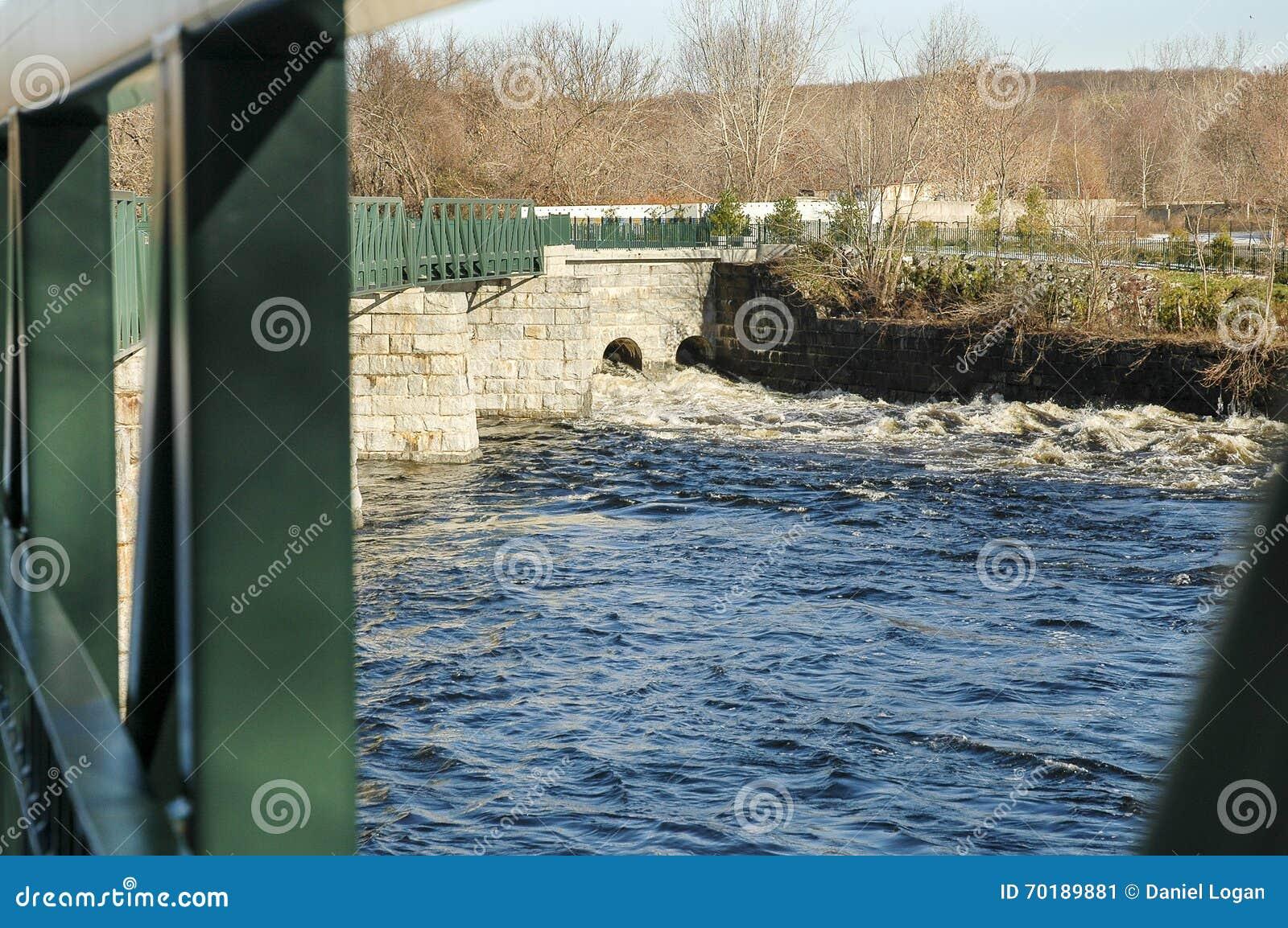 Vatten som fortskrider den Blackstone floden