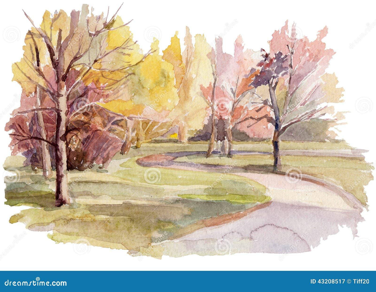 Download Vattenfärg stock illustrationer. Illustration av brigham - 43208517