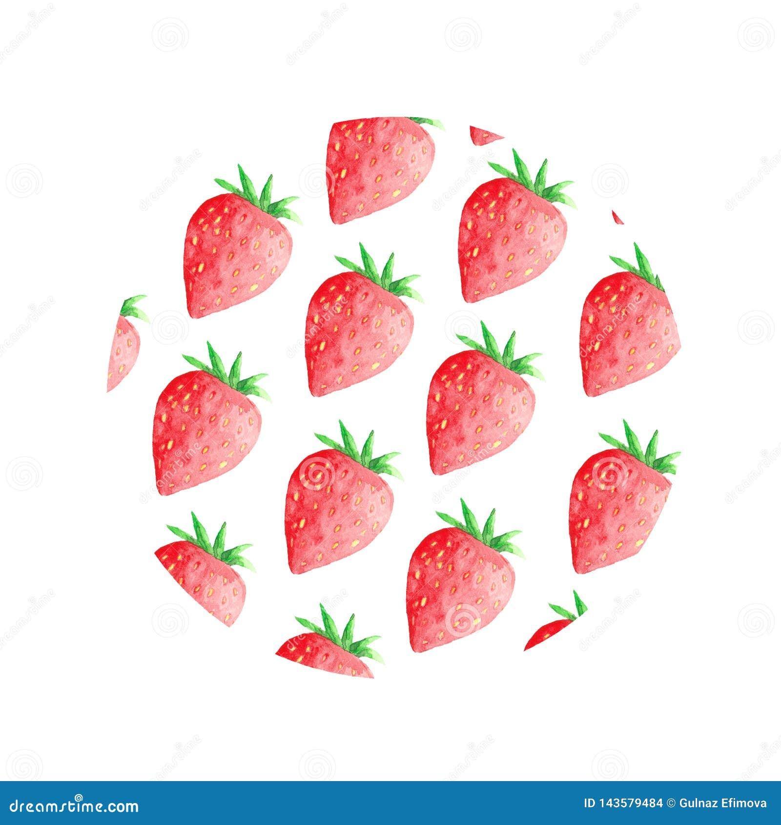 Vattenfärgen ställde in med söta jordgubbar