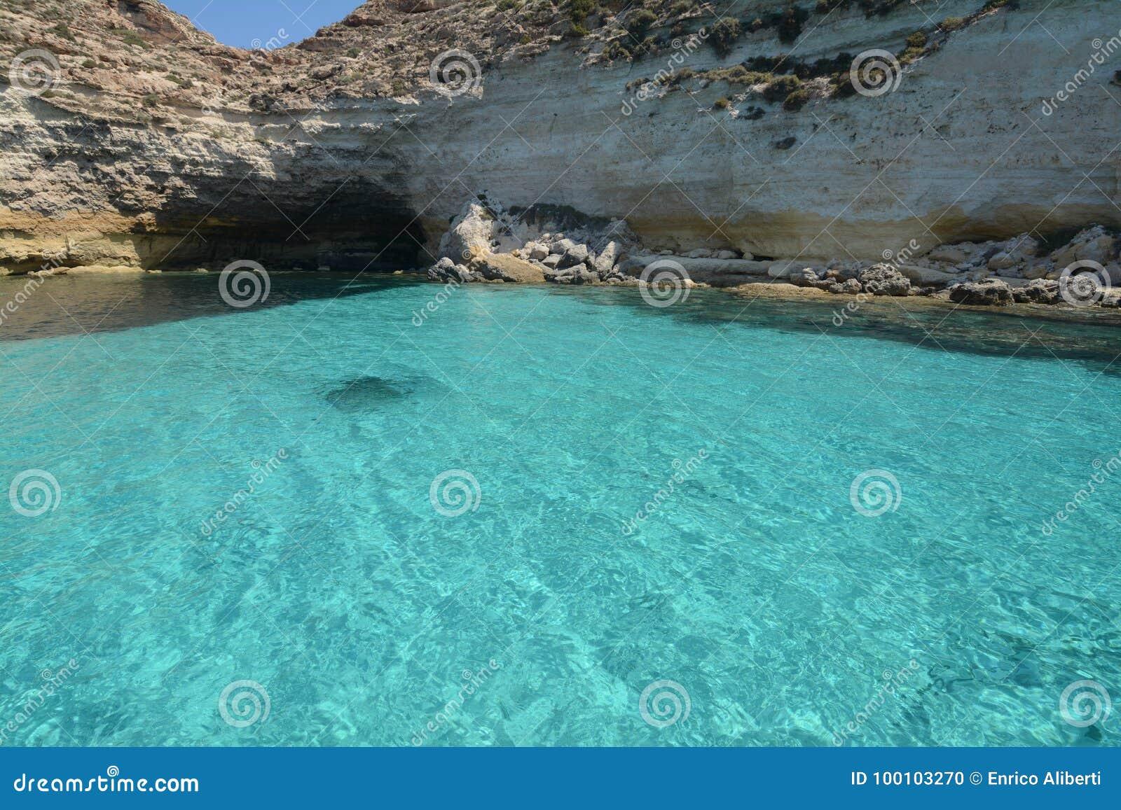 Vattenfärger i Lampedusa